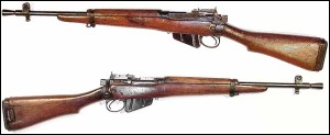 "The RGS Looks Similar to the Lee- Enfield MK 5 ""Jungle Carbine - Note Front Sight and Flash Suppressor"