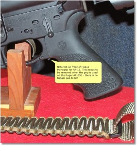 Hogue Monogrip for AR-15 Tab Removal - A Must Do!