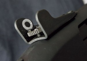 Rear 'Ghost' Sight. Note Center Alignment Marks.