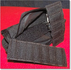 Plenty of Velcro Inside the Pouch to Keep the Panel In-Place When Pouch is not Zippered