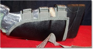 Secure the rifle upside down for installation of the cheek rest.  Protect any optics that you may have mounted.
