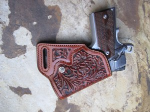 Small of the Back Holster. Note Extreme Forward Cant