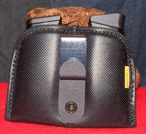 """""""Frankenmora"""" Shown with J-clip Adapter for Secure IWB Use with. Spare Glock G43 Magazines"""