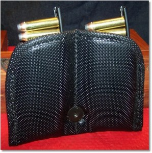 The FrankenMora Double-magazine Pouch With Two Fully-Loaded Revolver Ammunition Strips