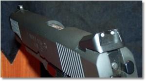 Low-profile NOVAK 3-dot Tritium Night Sights are Standard