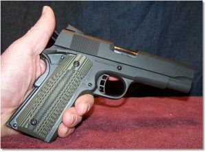 The VZ ETC Dirty Olive G10 Grip Panels Add a Bit of Class To the Pistol.