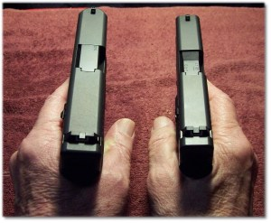 The Glock G26 (Left) Fits My Hand Better Than the Glock G43 (Right)