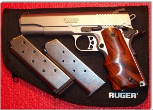 SR1911 Shown with Hogue Exotic Wrap-around Wood Grips. Clean Lines All