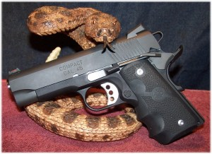 Springfield Range Officer Compact with Hogue Monograip w.Finger Grooves