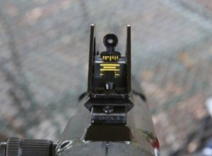 Rear Sight is Fully Adjustable and Graduations are Nicely Painted for Visibility