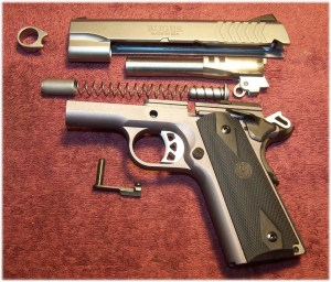 The Ruger SR1911 Model 6722 Easily Field Strips to Basic Components
