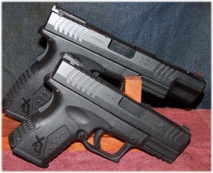 Comparison Between the XDM 3.8 Compact (Front) and XDM 5.25 (Rear)