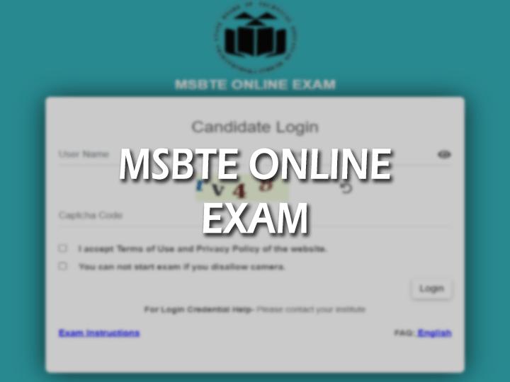 MSBTE Online Exam 2021