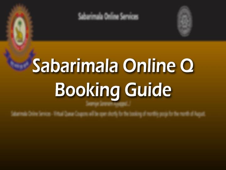 Sabarimala Q Online Booking 2021-22