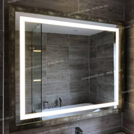 Gương Trang Trí Đèn LED Viền Bạc Thái