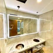 Gương toilet đèn led