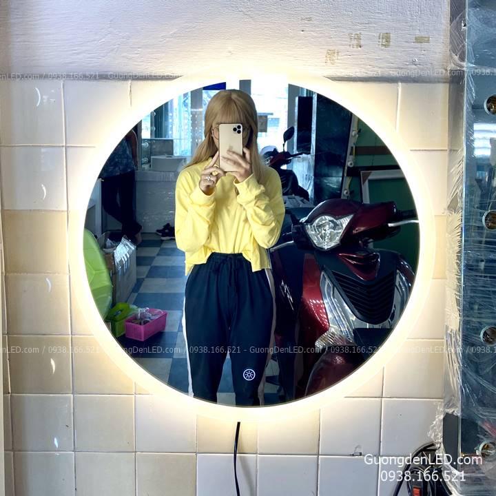 Gương Đèn LED Tròn Cảm Ứng Siêu Sáng