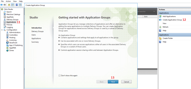 Application Group Creation