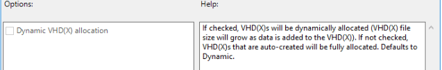 FSLogix DynamicVHD Allocation Setting