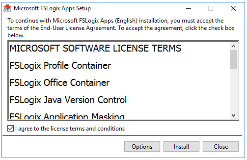 FSLogix License Terms and Conditions
