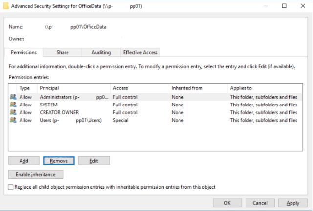FSLogix VHDLocation NTFS Permissions