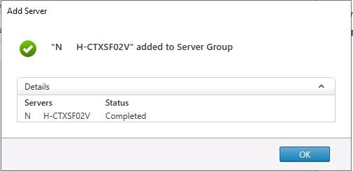 Storefront Second Server added to Server group
