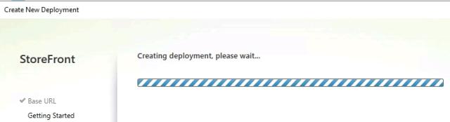 Storefront deployment started