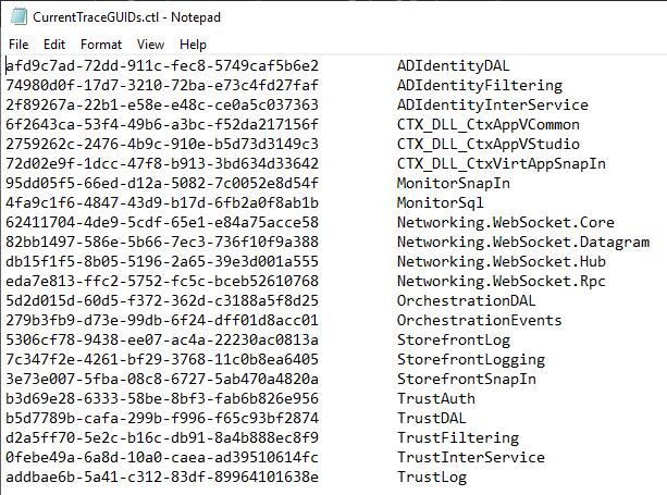 CDFControl Module GUIDs