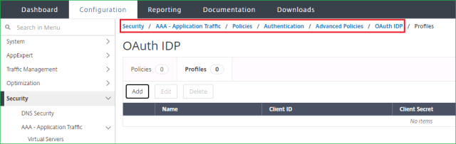 Citrix ADC OAuth IDP policy