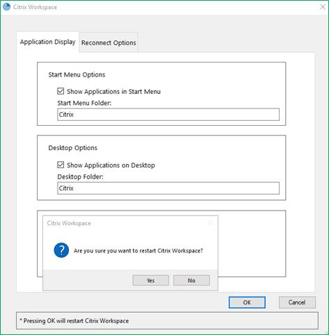 Show applications on Desktop in a folder