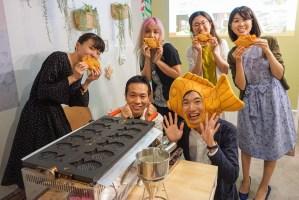 【出張たい焼き体験】たべもの記念日カフェでたい焼き食べ放題を行いました!