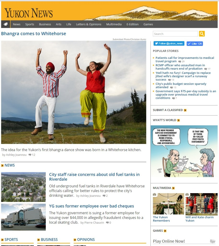 Home Page of Yukon News