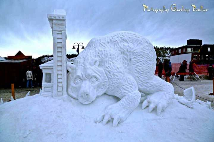 A Snow Sculpture at Whitehorse