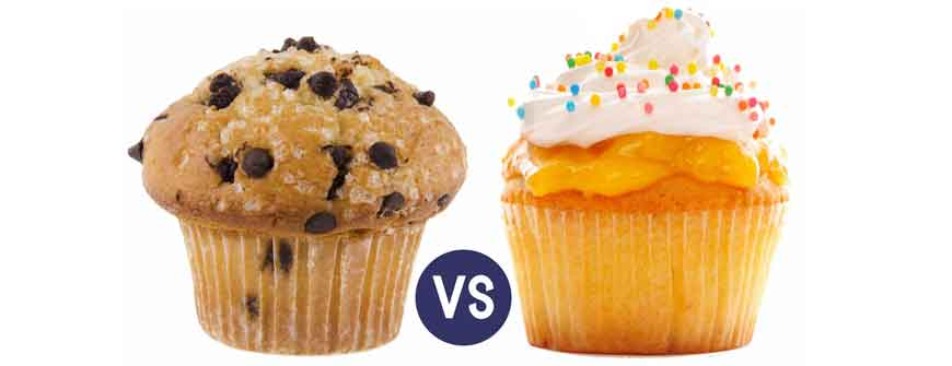Muffins Vs Cupcakes, An Epic Battle