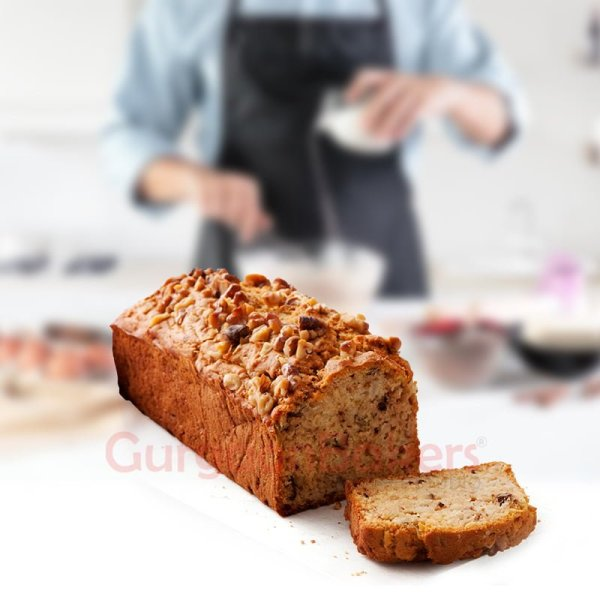banana walnut tea cake