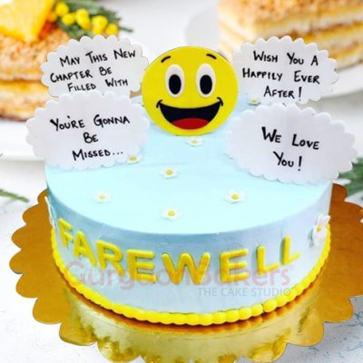cheery farewell cake