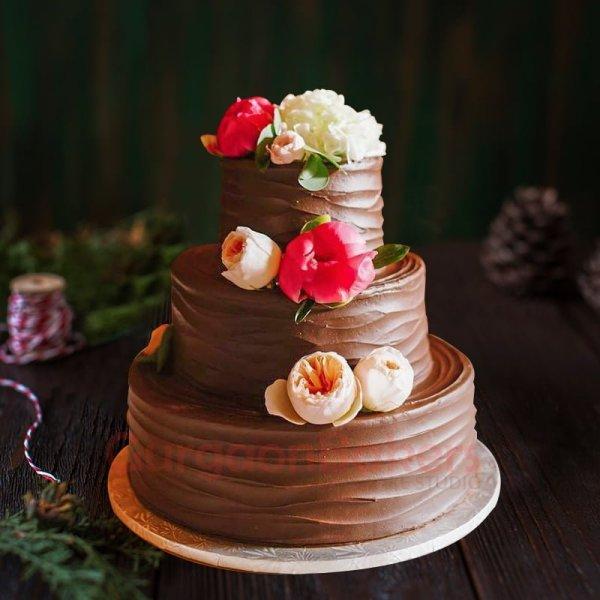 chocolate wrap wedding cake