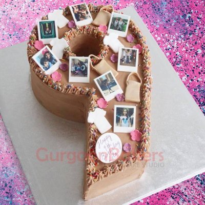 chocolate photo number cake