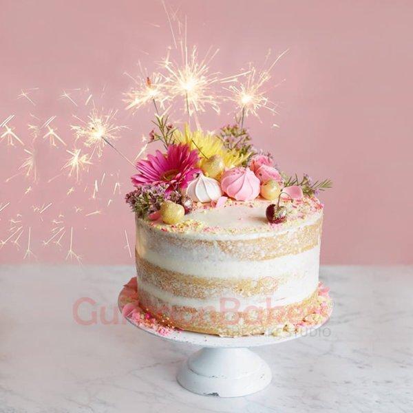 creamy sparkling birthday cake