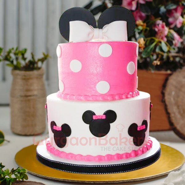 dainty minnie mouse bow cake