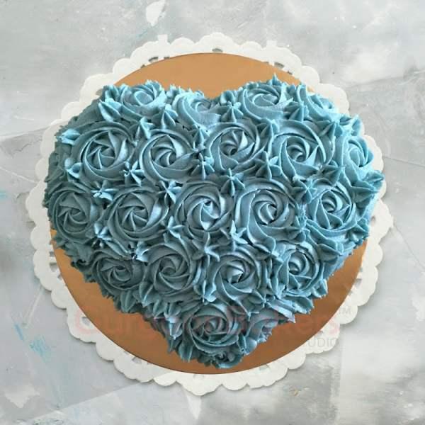enchanted heart cake