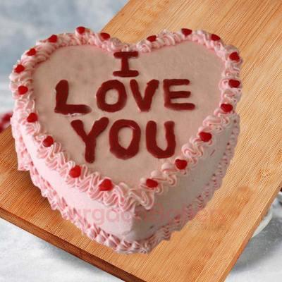 heart fantasy cake