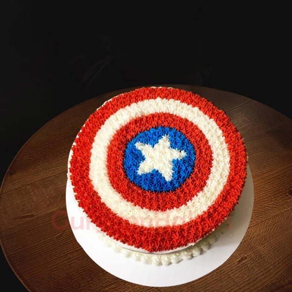 heroic captain america cake