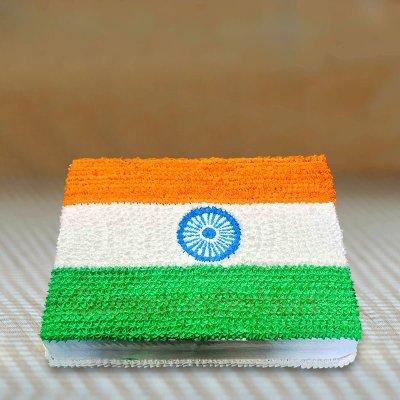 i love india tiranga cake