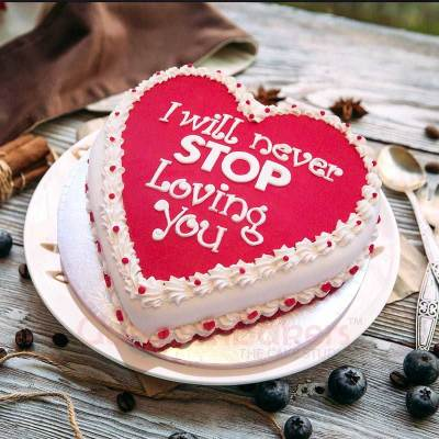 love never ends cake