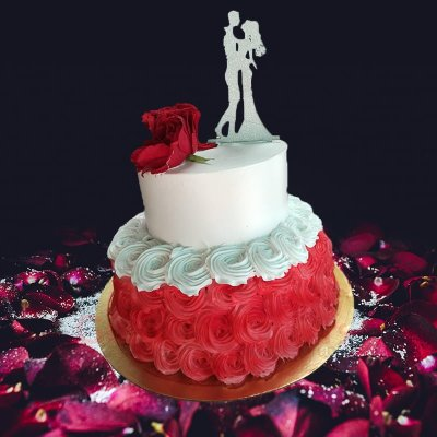 made for each other beautiful wedding cake