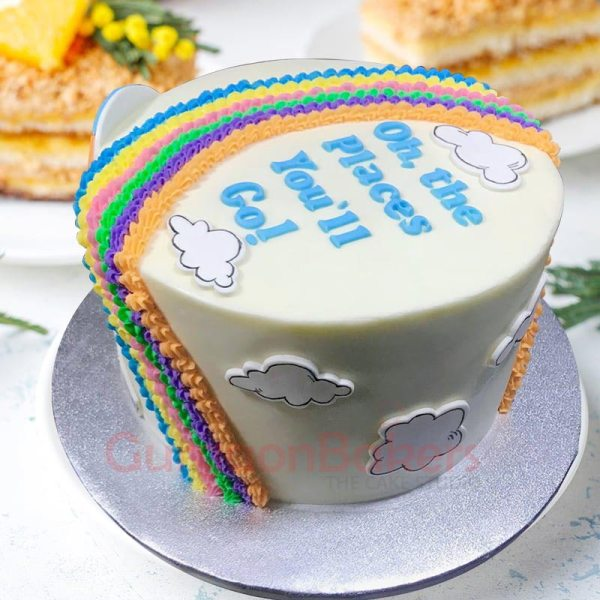 oh the places you will go cake
