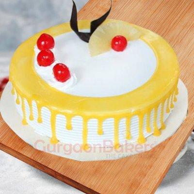pineapple drip cake
