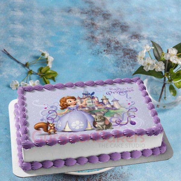 princess sofia buttercream cake