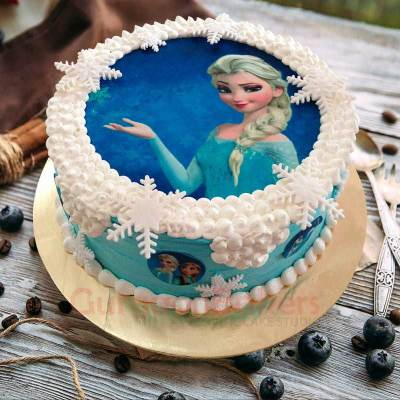 queen elsa magic cake